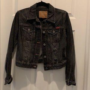 Guess Black Denim Jacket Size M